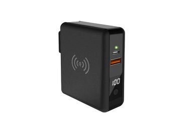 IOS Android 8000mAh Portable Charger With Built In Wall Plug