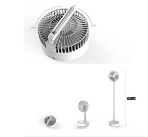 Three Wind 7200mAh Folding Rechargeable Battery Powered Fan