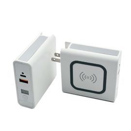Mobile phone Travel 10w Qi Power Bank With Wireless Charging