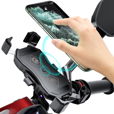QC3.0 15W Motorcycle Phone Wireless Charger Holder